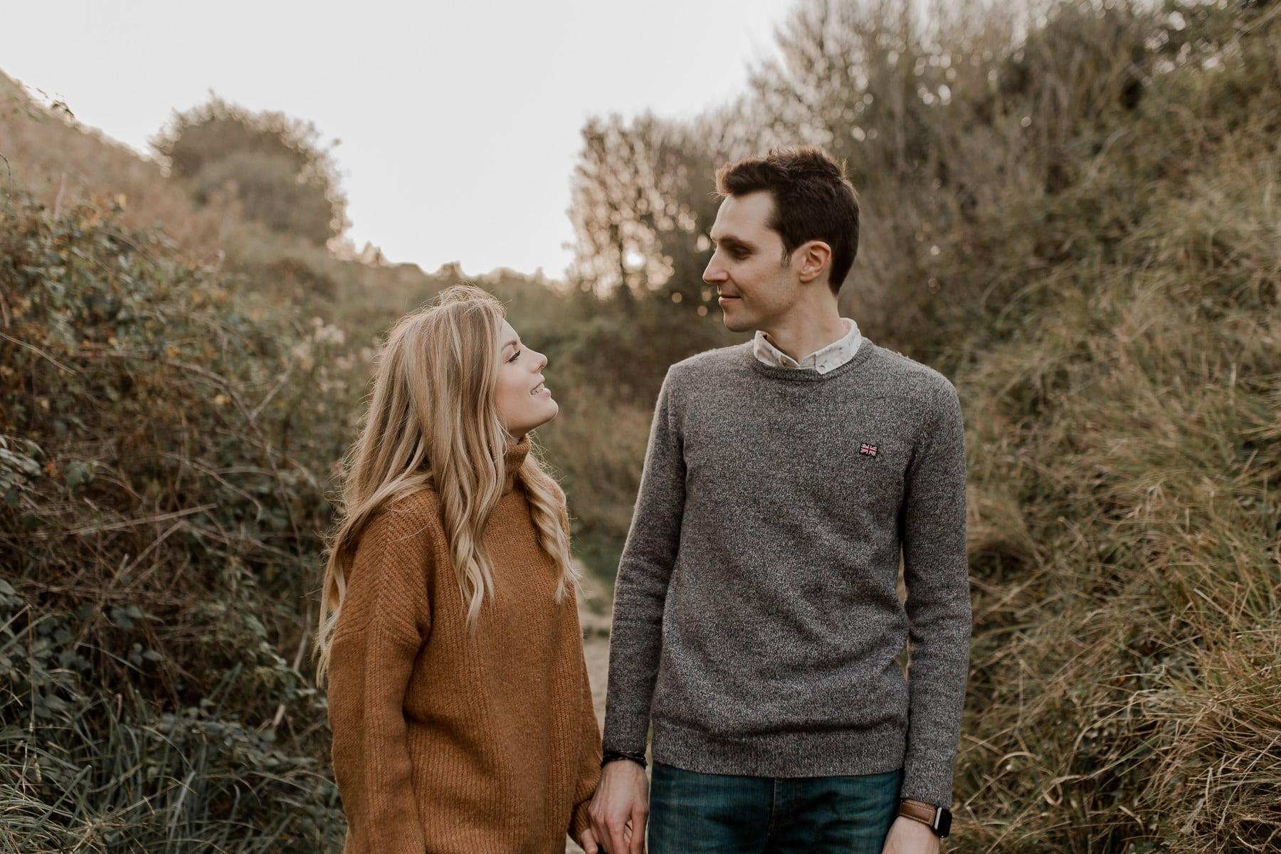 séance photo engagement couple normandie