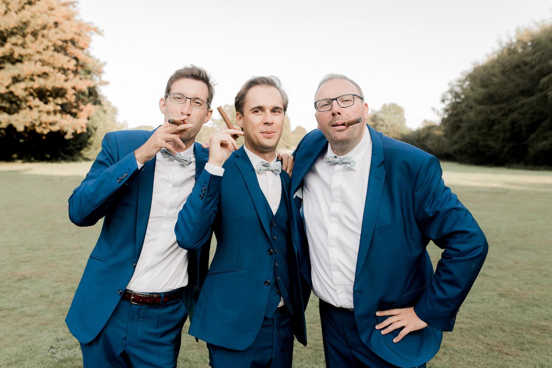témoins garçons mariage rouen chateau de saussay photographe