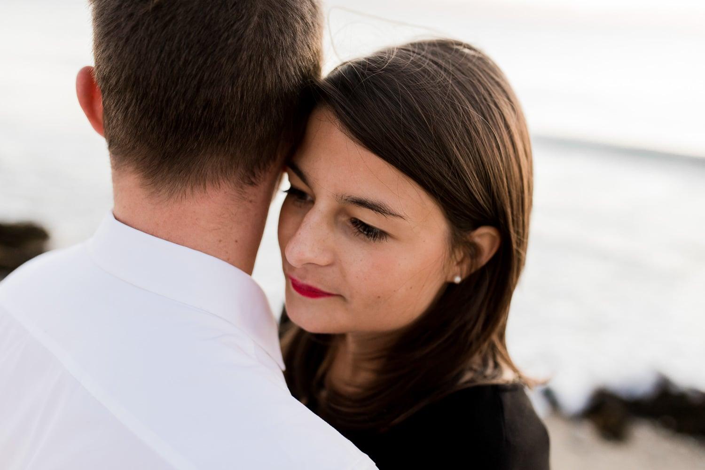 photographe caen amoureux couple plage