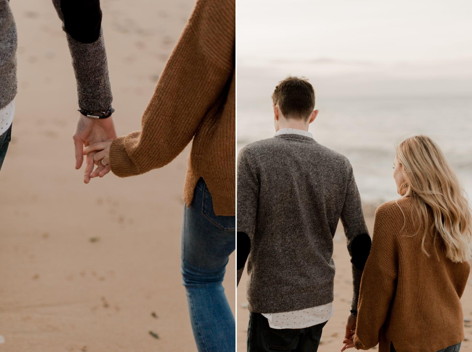 main dans la main couple normandie