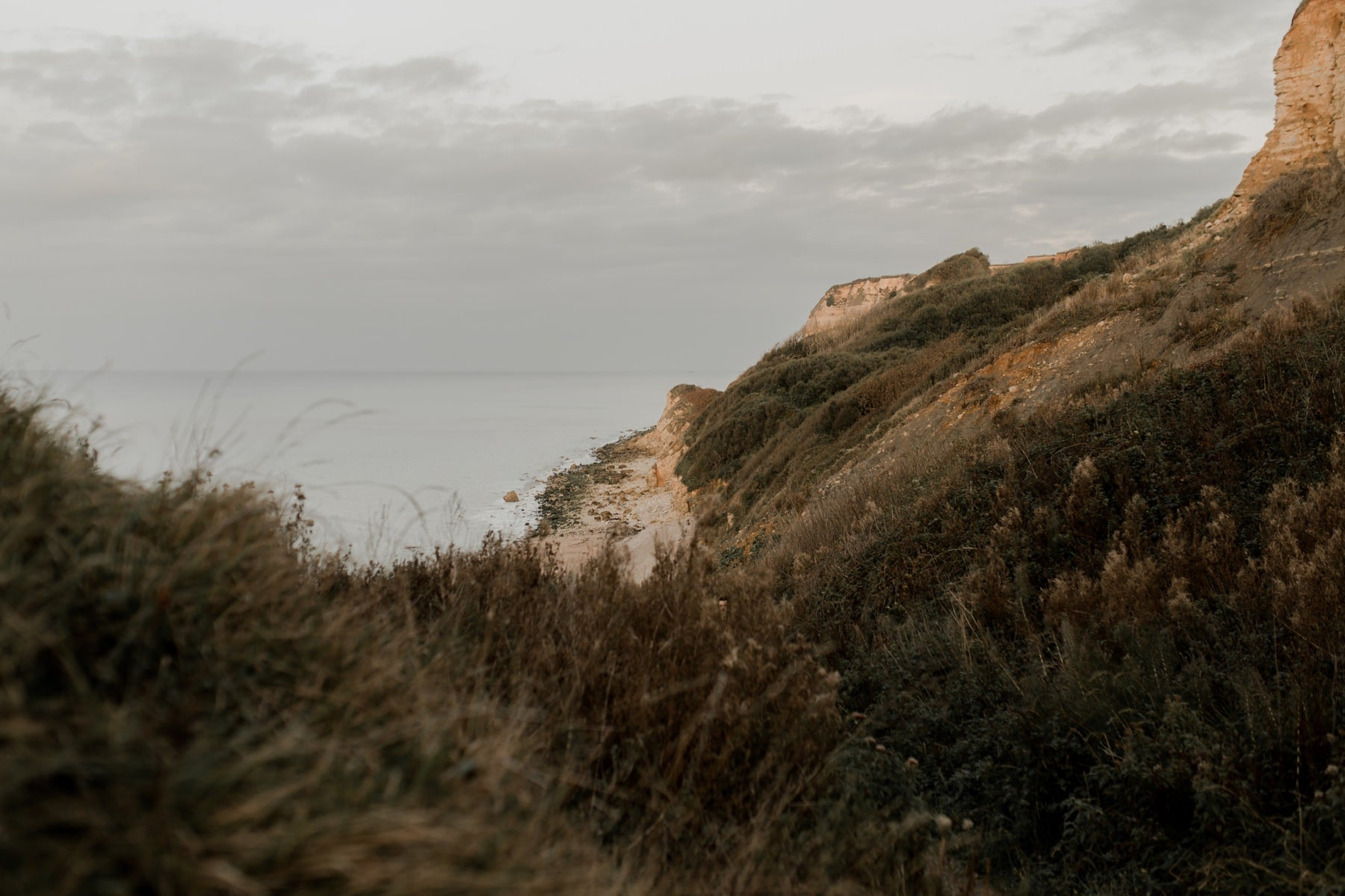 commes falaises plage normandie