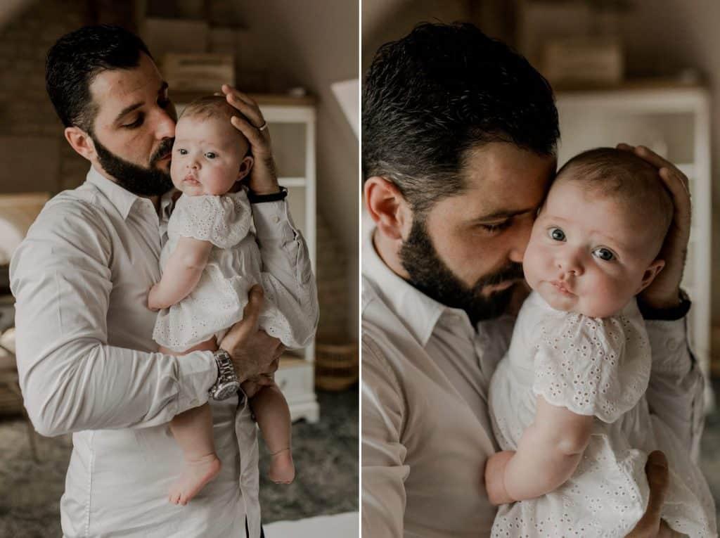 séance photo portrait papa et sa fille calvados