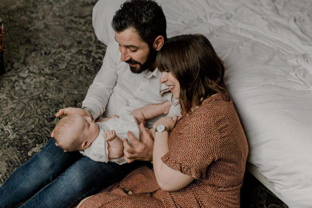 parents famille bonheur bébé