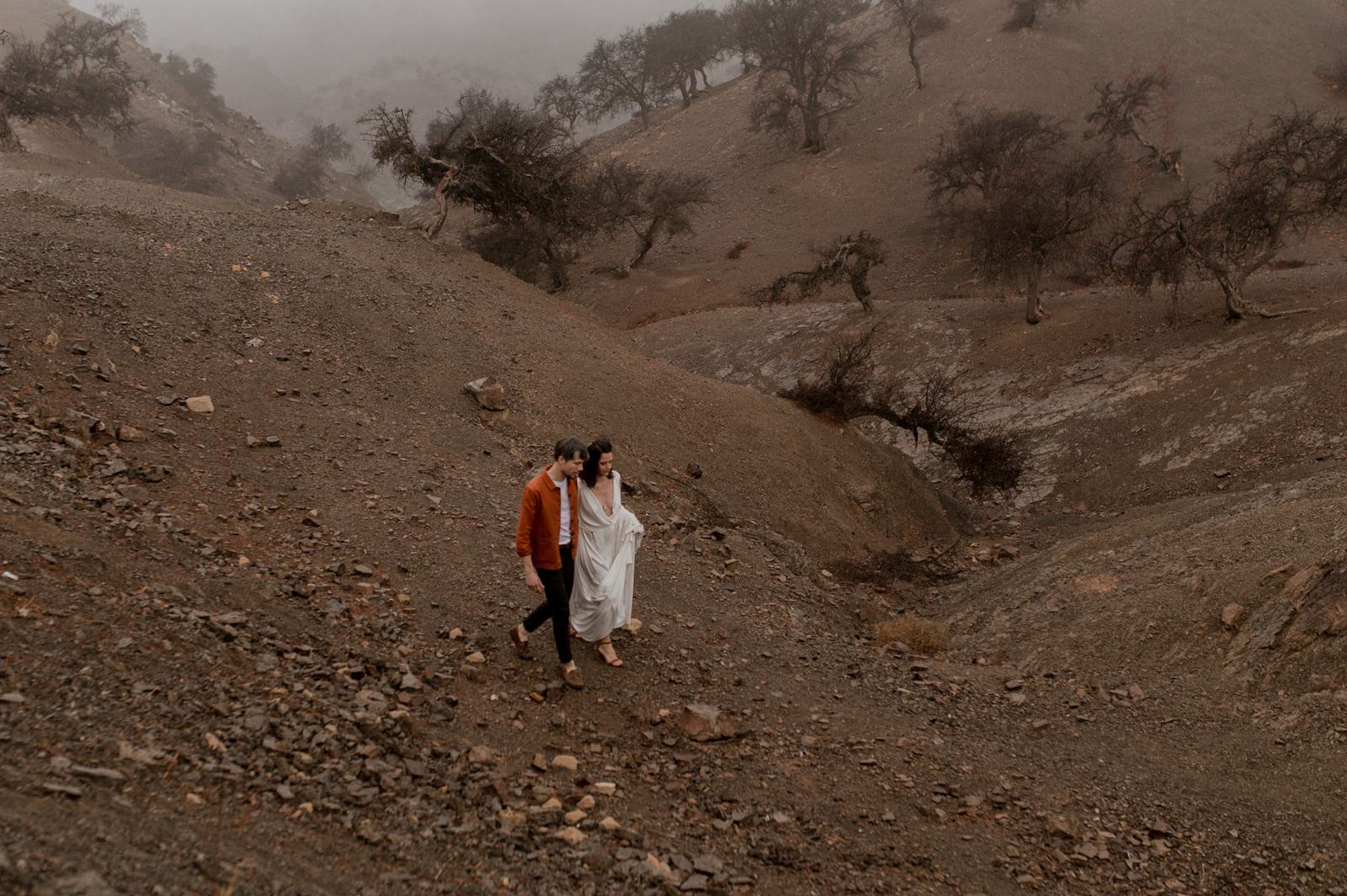 Photos de couple dans le désert