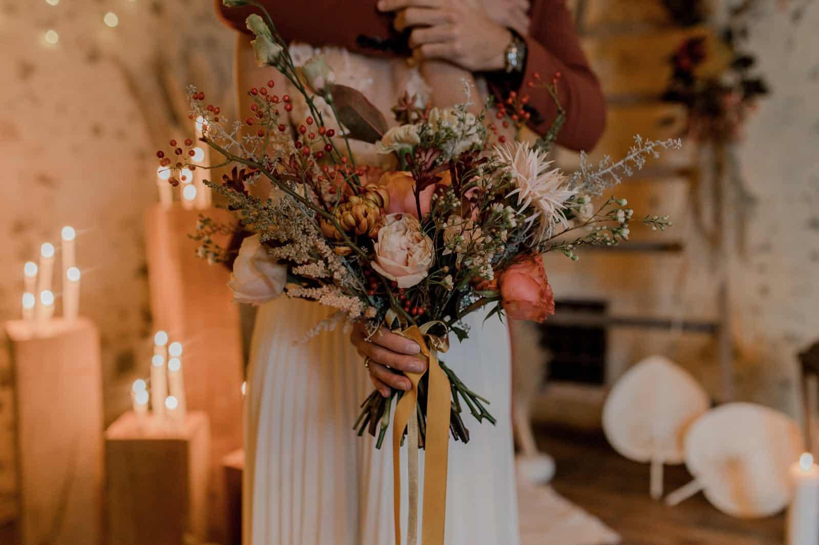 Bouquet de mariée mariage d'automne