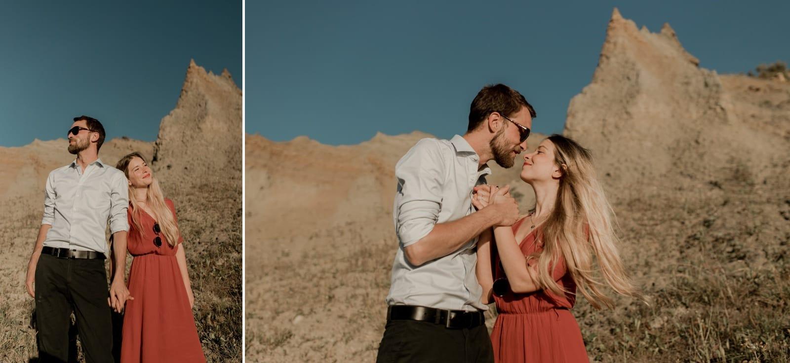 séance photo engagement couple en normandie