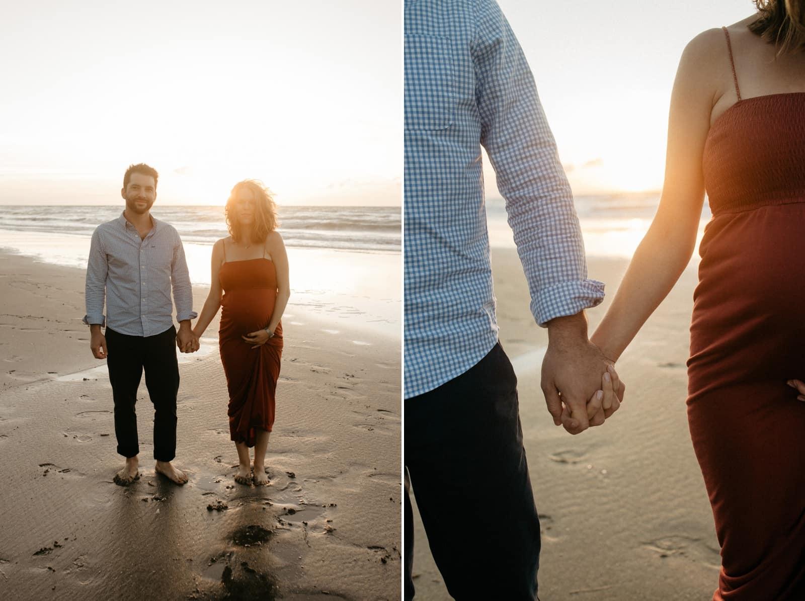 séance photo famille plage coucher de soleil calvados